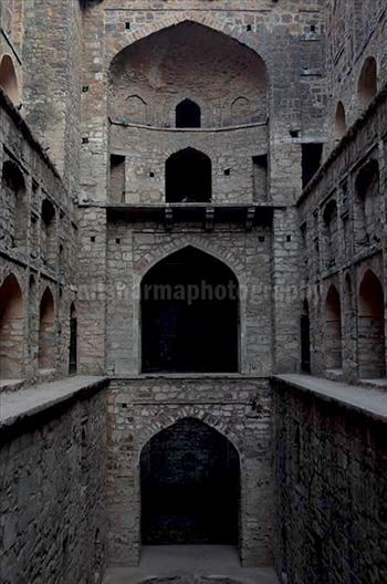 "Monuments: Agrasen ki Baoli or Stepwell at New Delhi - The picture of historic ""Agrasen Ki Baoli"" (Baoli means step well) at Hailey Road, Connaught Place, New Delhi, India."