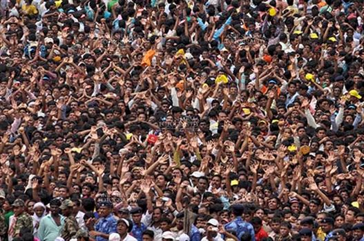 Festivals- Jagannath Rath Yatra (Odisha) - Huge crowd of Devotees on the occasion of Rath Yatra at Puri, Odisha, India.
