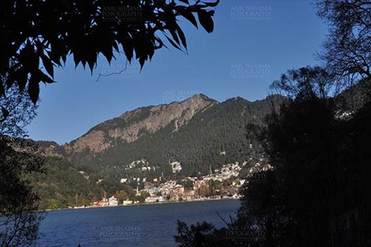 Travel- Nainital (Uttarakhand) - Nainital, Uttarakhand, India- November 11, 2015: A Panoramic view of Nainital city from Tallital Bus stop, Nainital, Uttarakhand, India.