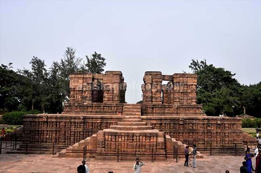 Monuments- Sun Temple Konark (Orissa) - Front view of Nata Mandir at Konark, Orissa, India.