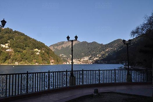 Travel- Nainital (Uttarakhand) - Nainital, Uttarakhand, India- November 11, 2015: View of Naini Lake and Nainital city form Tallital, Nainital, Uttarakhand, India.