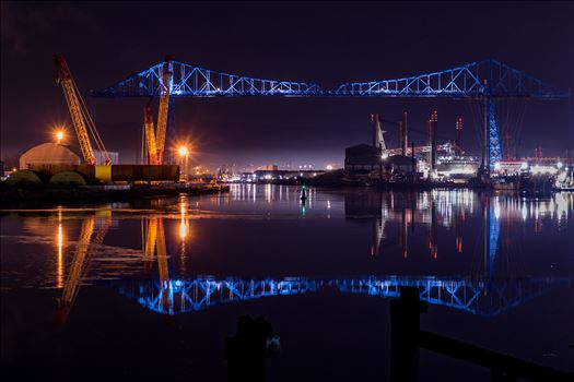The Transporter Bridge, one of the oldest bridges that cross the River Tees