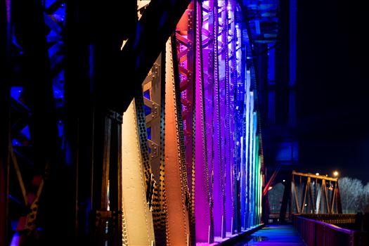 Newport Bridge Christmas Lights by AJ Stoves Photography