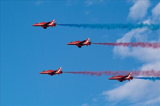 RAF Red Arrows Fly By by AJ Stoves Photography