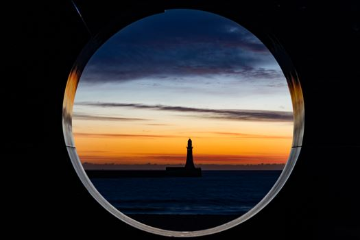 Roker Lighthouse at Sunrise by AJ Stoves Photography