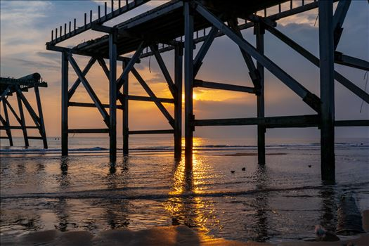 Sunrise Steetley Pier 1 by AJ Stoves Photography