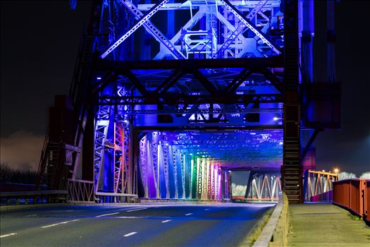 Newport Bridge Rainbow Lights by AJ Stoves Photography