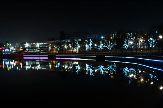 Stockton riverside at night by AJ Stoves Photography