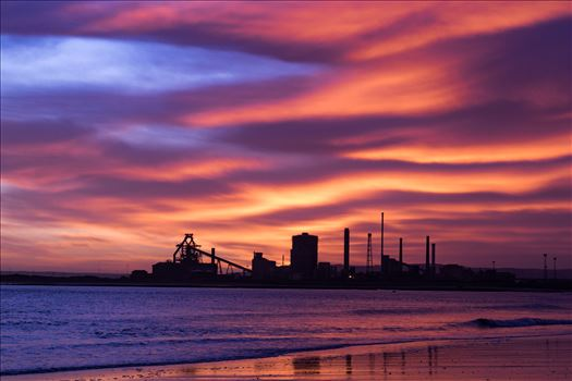 SSI Redcar Steel Works Sunrise, just the hint of blue by AJ Stoves Photography