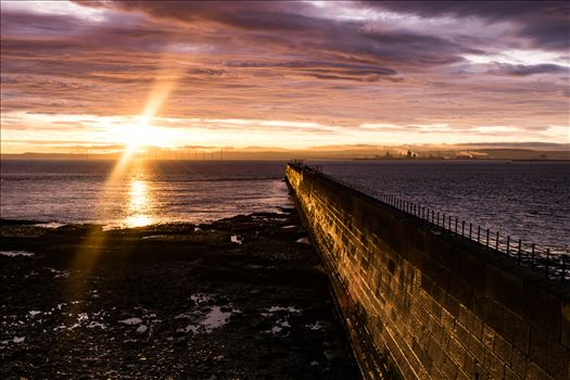 Headland Sunrise Breakwater by AJ Stoves Photography