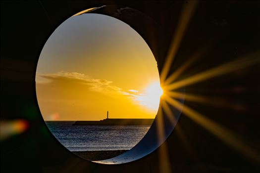 Roker Sunrise thought a whole by AJ Stoves Photography