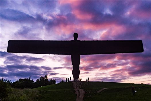Angel of the North Sun Set by AJ Stoves Photography