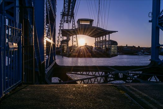 Transporter Bridge Port Clarence Sun Set by AJ Stoves Photography