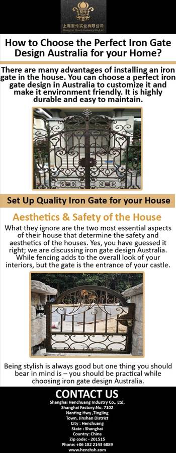 How to Choose the Perfect Iron Gate Design Australia for your Home.jpg by henchsh