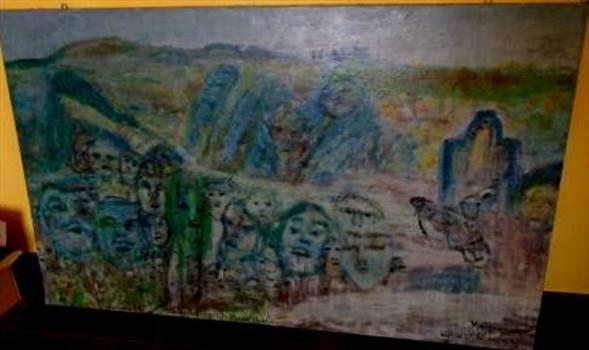 Quadro - Questo dipinto su tela è un opera veramente incredibile! le misure sono cm 140.5x 88.5, aspettiamo un oferta