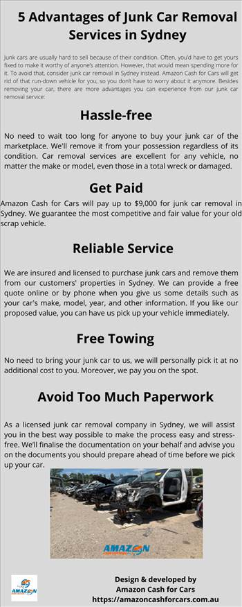 5 Advantages of Junk Car Removal Services in Sydney.png by Amazoncashforcars