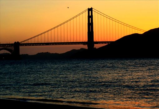 Golden Gate Sunset by Bridget Oates Photography