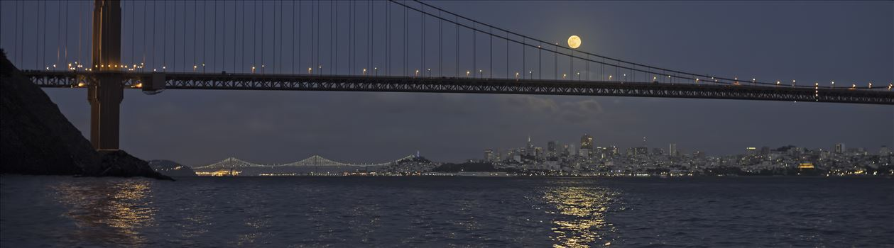 Moonrise Over the City by Denise Buckley Crawford