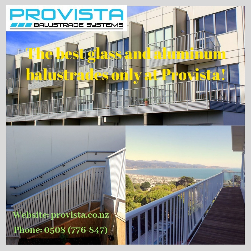 The best glass and aluminum balustrades only at Provista!.jpg Glass and aluminum balustrades are the new favourites for NZ architects. But where can you find the best products? For more details, visit this link: https://bit.ly/2PFlMMg by Provista
