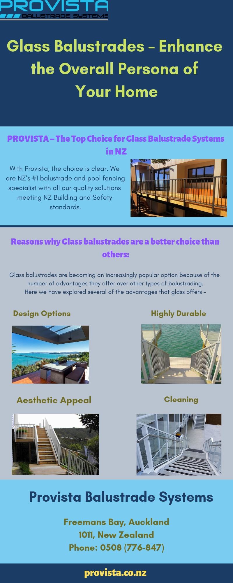 Glass Balustrades – Enhance the Overall Persona of Your Home  Are you looking for a material that can be used for enclosing terraces and provide a graceful look to your living space? Why not stylize your home with classic Glass Balustrades. For more details, visit this link: https://bit.ly/2Vk4nXD  by Provista