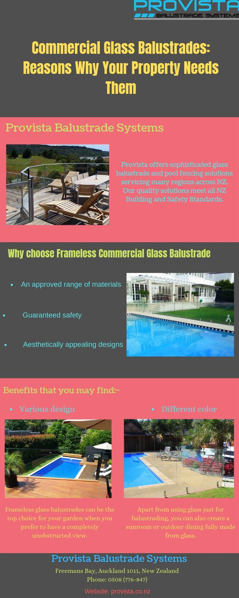 Commercial Glass Balustrades: Reasons Why Your Property Needs Them Glass Balustrades - the most stylish, durable, and robust safety alternative that can turn any commercial or domestic space from mediocre to show-stopping. For more details, visit this link: https://bit.ly/2uEL8gj  by Provista