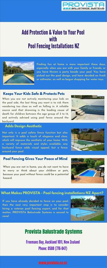 Add Protection & Value to Your Pool with Pool Fencing Installations NZ by Provista