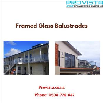 Framed glass balustrades by Provista