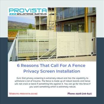 6 Reasons That Call For A Fence Privacy Screen Installation by Provista