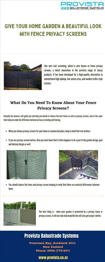 Give Your Home Garden a Beautiful Look with Fence Privacy Screens by Provista