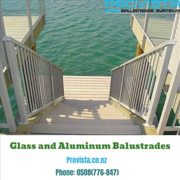 Glass and aluminum balustrades by Provista