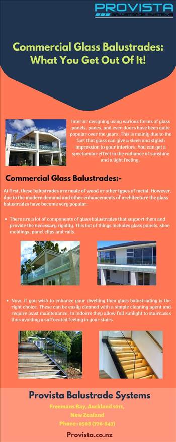 Commercial Glass Balustrades: What You Get Out Of It! by Provista