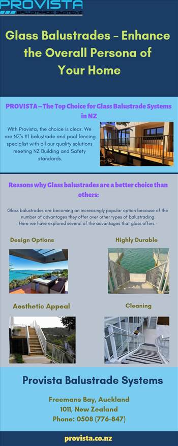 Glass Balustrades – Enhance the Overall Persona of Your Home  by Provista