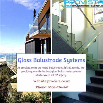 Glass balustrade systems by Provista
