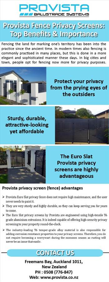 Provista Fence Privacy Screens: Top Benefits & Importance  by Provista