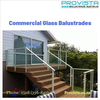 Commercial glass balustrades by Provista