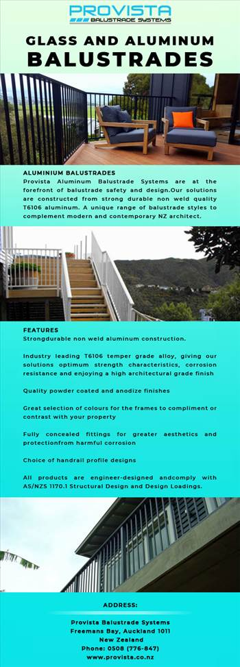 Get the latest aluminum balustrade Systems at Provista by Provista