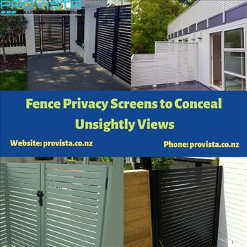 Fence Privacy Screens to Conceal Unsightly Views by Provista