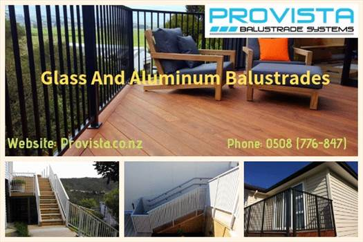 Glass and aluminum balustrades.gif by Provista