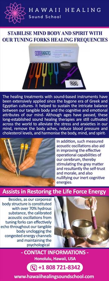 Stabilise mind body and spirit with our tuning forks healing frequencies by hawaiihealingusa