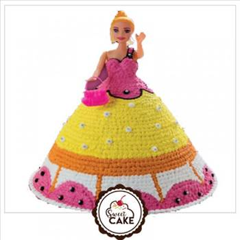 Barbie Doll Cake Delivery in Noida by nidhisharma