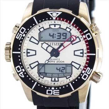 Citizen Aqualand Promaster Divers 200M Analog Digital JP1093-11P Mens Watch by zetawatches