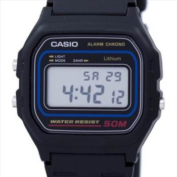 Casio Alarm Chrono Digital W-59-1VQ Men's Watch by zetawatches