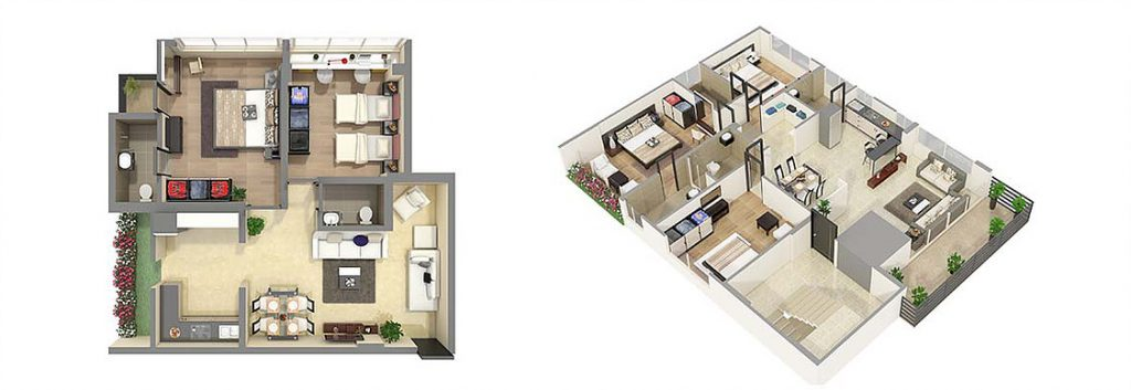 Photorealistic 3D Floor Plan Rendering Services PhotorealisticFloor Plan Rendering for Real Estate Marketing by JMSDCONSULTANT