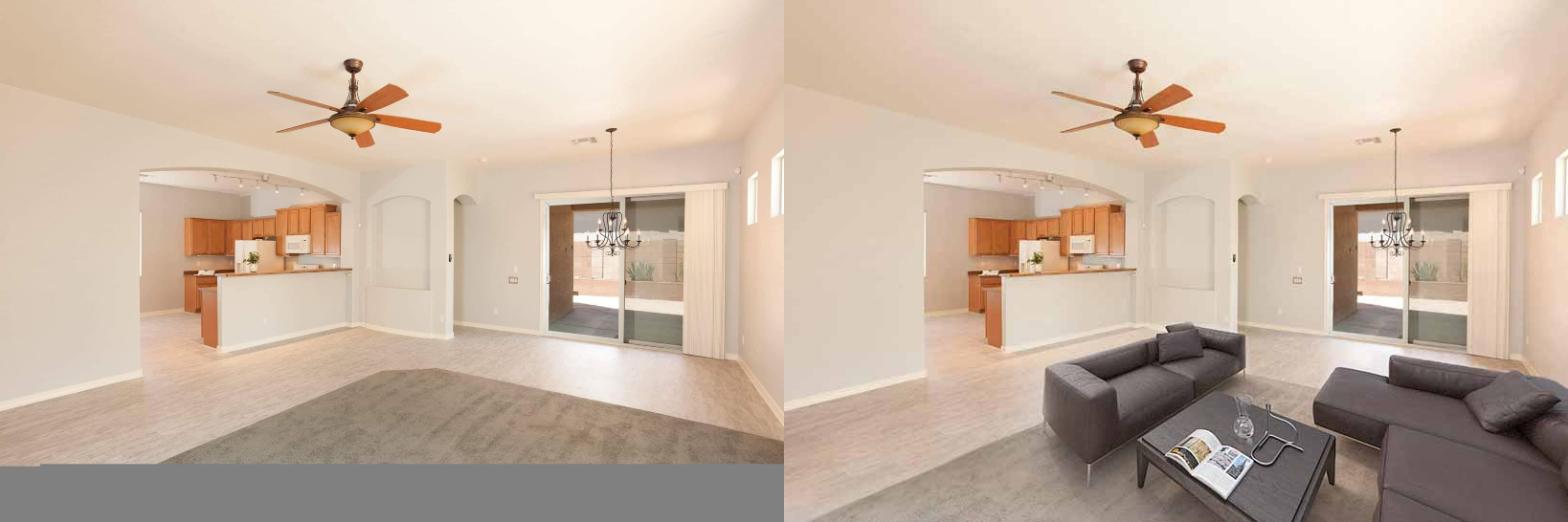 before and after 3d interior rendering services 3D Interior Rendering Services by JMSDCONSULTANT