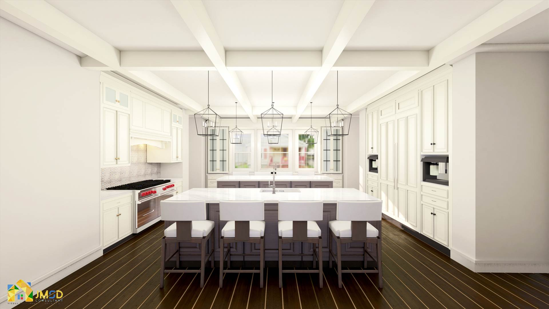 Kitchen architectural 3d interior rendering los angeles 3D Interior Rendering Services by JMSDCONSULTANT