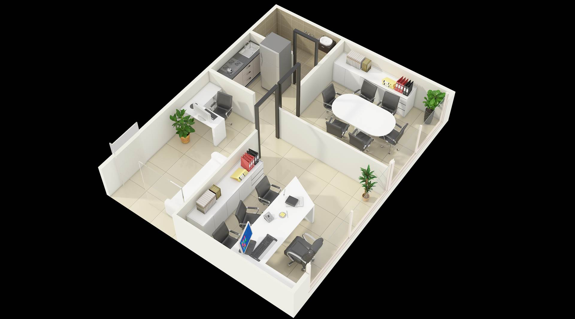 3D Floor Plan Design Services for Office   by JMSDCONSULTANT
