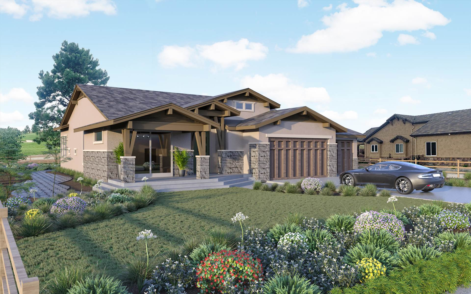 3D House Rendering Services Aurora Colorado We have been doing exterior renders for all demographics and clientele across the world. Primarily used for marketing purposes and client meetings.  by JMSDCONSULTANT