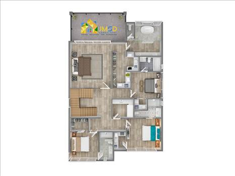 3D Architectural Rendering of House Floor Plans Design by JMSDCONSULTANT