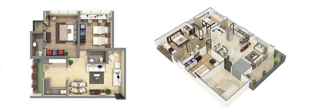Photorealistic 3D Floor Plan Rendering Services by JMSDCONSULTANT