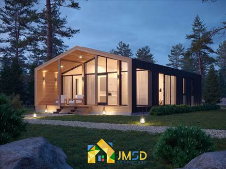Exterior Architectural Rendering Services Chicago Illinois for Night View by JMSDCONSULTANT